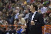 VALENCIA - NOVEMBER 6: Orhun Ene during Eurocup Bakestball match between Valencia Basket Club and Ba