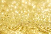 Golden Glitter Sparkles Dust  Background