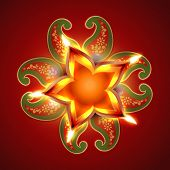 pic of swastik  - beautiful swastik vector background design - JPG