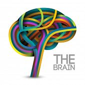 Creative concept of the human brain (vector also available)