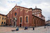 Santa Maria delle Grazie church in Milan. Hosts the painting of Leonardo da Vinci: the
