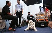 SUBANG JAYA - NOV 10:A moment of rest for all at the World Robot Olympaid on November 10, 2012 in Su