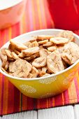 foto of fibrin  - dried banana chips in bowl - JPG