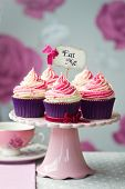 stock photo of cake stand  - Cupcakes - JPG
