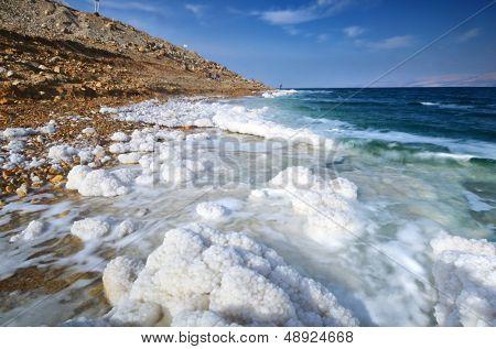 Постер, плакат: Соль Мертвого моря Израиль образований , холст на подрамнике
