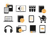 Audio book's icons set