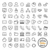 stock photo of lock  - Set of web icons for business - JPG