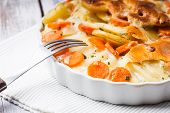Potato And Carrot Gratin
