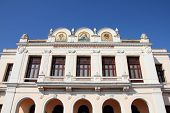 stock photo of tomas  - Theater Tomas Terry building in Cienfuegos Cuba - JPG