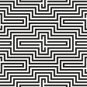 Black And White Zigzag Pattern
