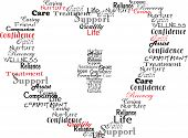 foto of hospice  - Typography style using words commonly associated with healthcare - JPG