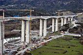 Highway Bridge Under Construction
