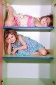 Girls On Shelves