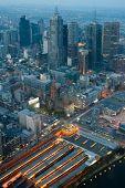Melbourne Skyline Over Flinders St Station