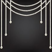 picture of beads  - Black background with pearl decoration - JPG