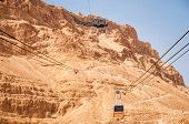 Cable car at Masada
