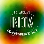 coloful indian independence day background