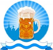 Oktoberfest  design with beer glass
