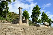 stock photo of olympic-games  - Ancient ruins shown in Olympia - JPG
