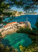 View of Montenegro coast near Petrovac