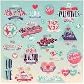 Valentine`s day set - labels, emblems and other decorative elements.