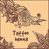 abstract pattern of a tattoo henna