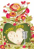 stock photo of slavery  - Greeting card of the Jewish Passover - JPG
