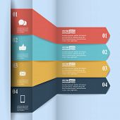 Modern paper infographics in flat design with trendy colors for web, banners, mobile applications, l