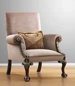 isolated vintage chair