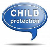 stock photo of pedophilia  - child protection and care give children a safe home and protect them from abuse or domestic violence - JPG