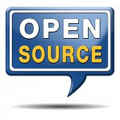 foto of open-source  - open source software program or economy freeware internet data computer sharing - JPG