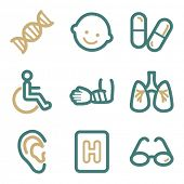 Medicine web icons, two color series