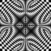 Abstract fancy pattern in op art design. Vector art.