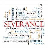Severance Word Cloud Concept