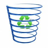 Recycle bin icon, 3d