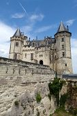 image of anjou  - Castle of Saumur in Loire Valley France - JPG