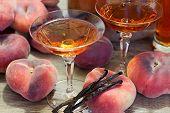 Close Up View Of Homemade Fruit Liqueur