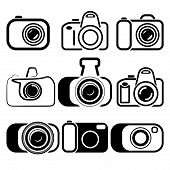 camera set symbols vector illustration