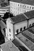 Portugal. Porto City. Historical Part Of Porto In Black And White