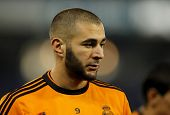 BARCELONA - JAN, 12: Karim Benzema of Real Madrid during the Spanish League match between Espanyol a