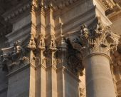 columns and ornaments of the church