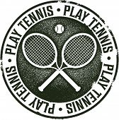 Vintage Style Tennis Sport Stamp