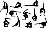 Yoga Asana's Silhouettes