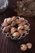 foto of camphor  - Siamese natural cardamom in the bowl closeup - JPG