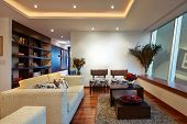 Interior design: Big Modern Living room with big empty white wall