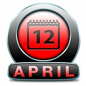 april spring month button or icon event calendar
