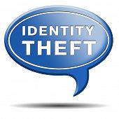 picture of theft  - identity theft stop warning sign stealing ID online is an internet or cyber crime - JPG