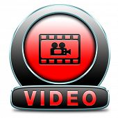 watch or play now video or movie live stream or download icon or button