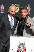 LOS ANGELES - JAN 22:  Gary Barber, Sylvester Stallone at the MGM 90th Anniversary Celebration Kick-