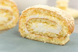 foto of pastarelle  - cookie dough stuffed with sweet cream and cover with fine white chocolate - JPG